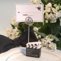Clapperboard Style Place Card Holder